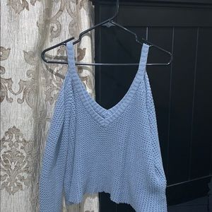 L.a. hearts light blue knitted sweater